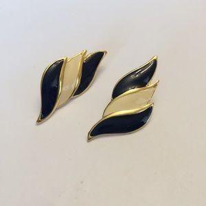 Vintage Blue & White Earrings